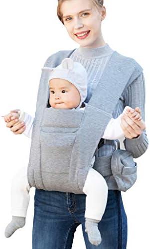 新生児の赤ちゃんピュアコットンスリング、フロントハグ新生児スリング、デュアル使用のベビー抱きしめるアーティファクトの前とアウト、スリングバッグ、ベビー用品、通気性のベビースリングを行く後 (Color : A)