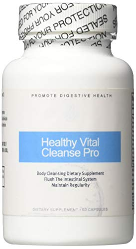 Healthy Vital Cleanse Pro-Potent and Effective Probiotic Formula- Detox and Cleanse Safely- Colon Cleanse and Detoxification- 60 Capsules for Women and Men