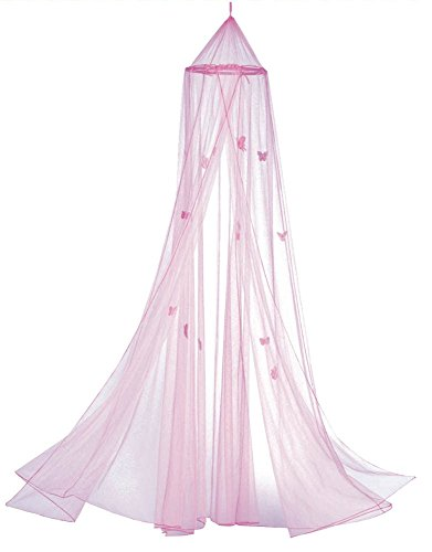 or Bed Butterfly Pink Bedroom Canopy ()
