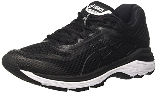 ASICS Women's GT-2000 6, Black/White/Carbon, 25.5 cm