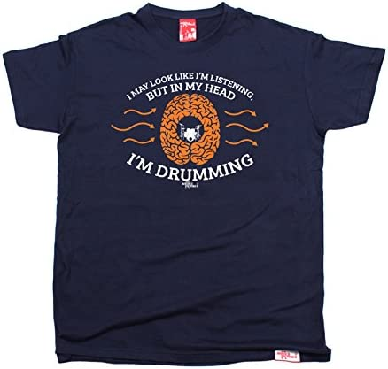 Listening In My Head Drumming MENS Banned Member T-SHIRT tee birthday gift music