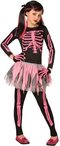 Skeleton Punk Pink Child 8-10 Costume Item -