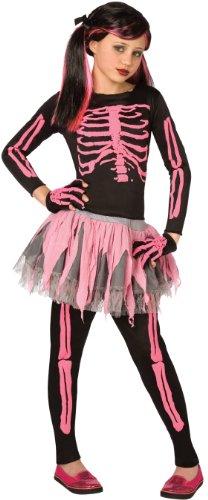 Rock Girl Halloween Costume (Skeleton Punk Pink Child 8-10 Costume Item)