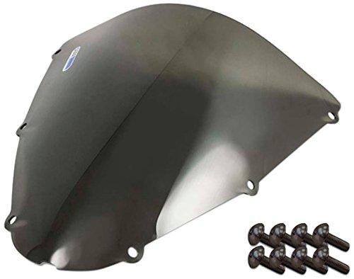Sportbike Windscreens ADKW-405S Smoke Windscreen (Kawasaki 636 (05-06), Zx 10 (06-07) & Zx6R (07-08) with Silver Screw kit), 2 Pack