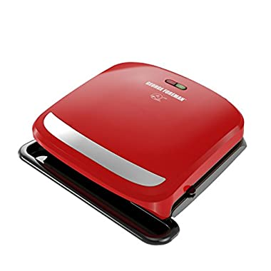 George Foreman GRP360R 4 Serving Removable Plate 360 Grill, Red