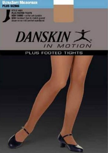 - Danskin Women's Footed Tight,Light Toast,4X