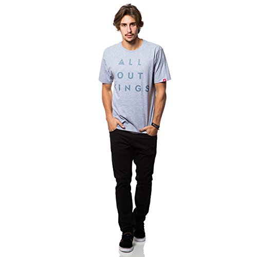 Camiseta Basica All Out Kings 21 - Mescla Claro - Gg