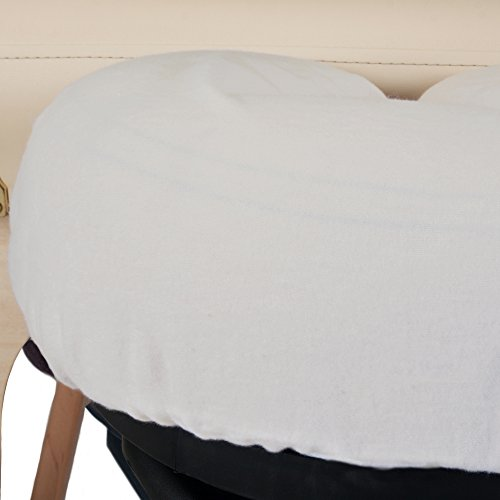 EARTHLITE Professional Flannel Face Pillow Covers - 2 Piece Set, 100% Cotton Flannel Massage Table Headrest Covers, Cradle Covers by EARTHLITE (Image #2)