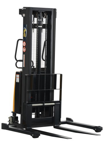 Vestil SL-118-AA Powered Lift Stacker with Adjustable Forks and Support Legs, 42'' Length x 26-3/4'' Width Fork, 2000 lbs Capacity by Vestil