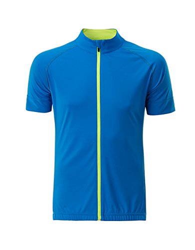 2store24 Zip blue Maillot Cycliste Total En Jersey yellow bright Bright Homme t4tnraxwHq