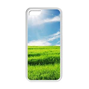 Welcome!Iphone 5C Cases-Brand New Design Beautiful Sky Cloud Grass Scenery Printed High Quality TPU For Iphone 5C 4 Inch -02