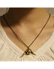 TseanYi Vintage Snitch Necklace Chain Ball Wings Pendant Necklaces Time Turner Choker Necklace Harry Potter Fans Gifts Jewelry for Women Girls and Kids
