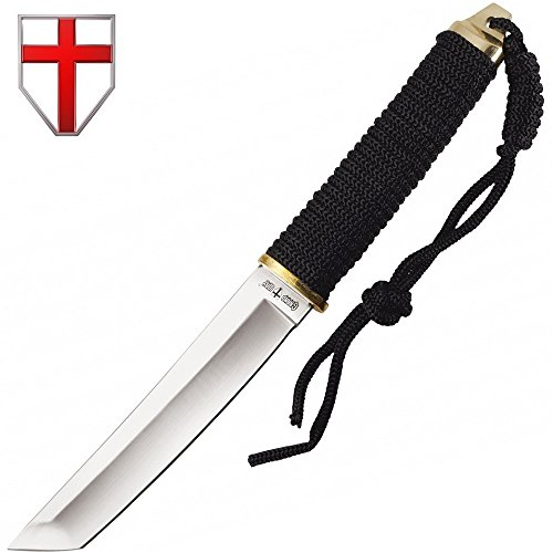Grand Way Japanese Fixed Paracord Tanto Knife - Fixed Polished Blade with Paracord Handle 2307