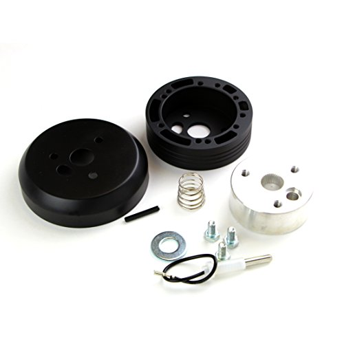 5 & 6 Hole Matte Black Hub Adapter Installation Kit A03 For Aftermarket Steering Wheels (Aftermarket Steering)