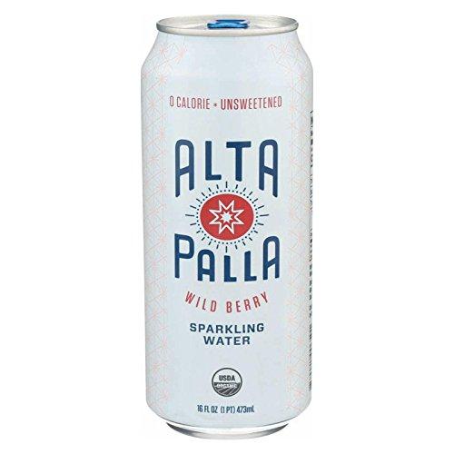 Alta Palla Organic Wild Berry Sparkling Water, 16 Fluid Ounce -- 12 per case. by Alta Palla