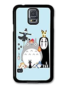 Miyazaki Animation Characters with Totoro No Face Calcifer Fire Illustration case for Samsung Galaxy S5