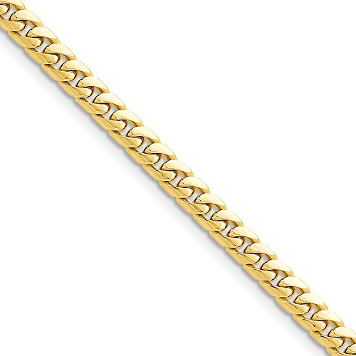 14k Yellow Gold 5mm Solid Miami Cuban Chain 7'' Bracelet by Jewelplus