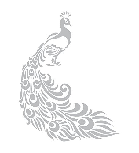 Paradise Etched Glass (Peacock - Etched Decal - For Shower Doors, Glass Doors and Windows - 19