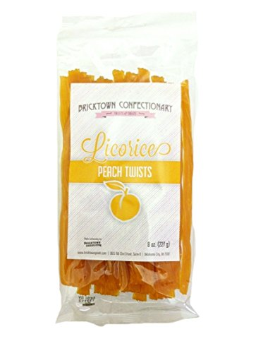 Kennys Licorice Watermelon Twist (Peach Licorice - FAT FREE Old Fashioned Gourmet Licorice Twists - A Must Try Quality Licorice Candy with Unique Flavor Unlike Any Other - 8 oz. bag)