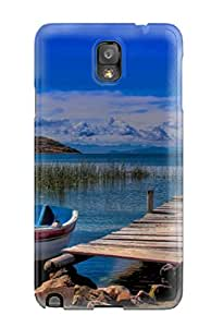 7829203K18054254 New Tpu Hard Case Premium Galaxy Note 3 Skin Case Cover(titicaca Lake)