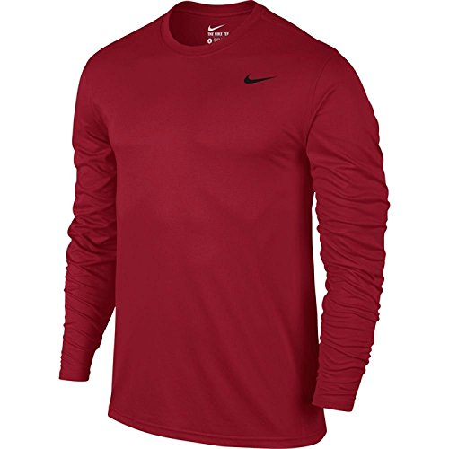 Nike Men's Legend Long Sleeve Shirt (Small, Gym Red)