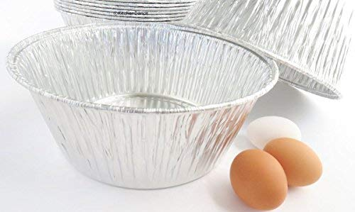Disposable Aluminum Extra Deep 10 inch Round All Purpose Baking Pan #1600 (10)
