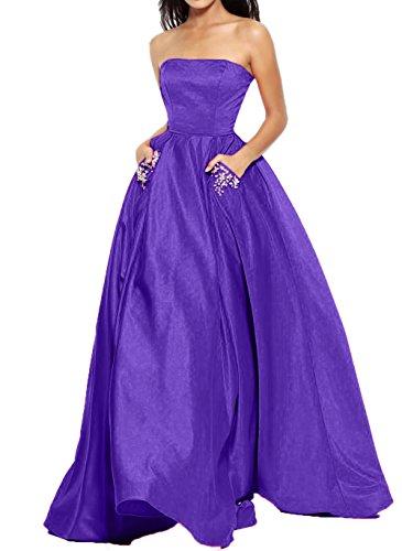 Royal Satin Wassermelon Dunkel Blau Jugendweihe Abendkleider Partykleider Langes Kleider Brautjungfernkleider Charmant Damen I4Ow7xvqnZ