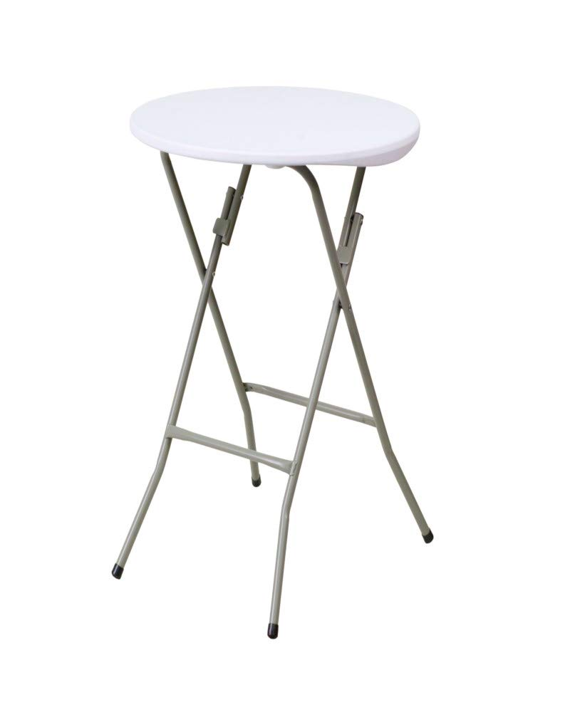 Outdoor Foldable Pub Table Stand Cocktail Height Round Bar Kitchen Patio Style Bistro Outdoor End Side Low Corner & Ebook AllTim3Shopping.