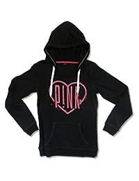 Pink P!NK Heart Logo Women's Black Pull Over Sweatshirt Hoodie