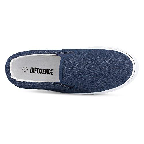 Influence Mens Gore Slip-On Casual Sneaker Denim HeRkor