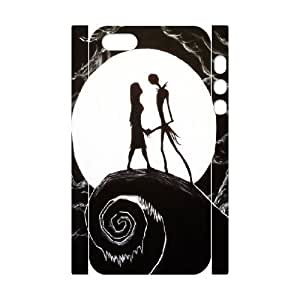 3D [The Nightmare Before Christmas] Nightmare Before Christmas Painting Case For Sam Sung Note 4 Cover , Case For Sam Sung Note 4 Cover Case Protector Cute for Guys {White}