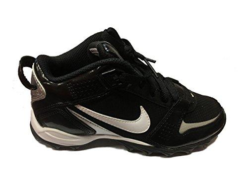 Nike YOUTH Landshark Legacy MID BG Black Field Multipurpose Shoes Cleats (3.5Y) yv6jA