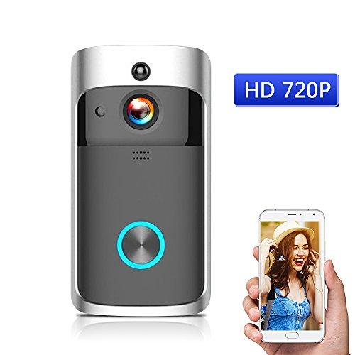 OWSOO WiFi Smart Wireless Security DoorBell Smart HD 720P Visual Intercom Recording Video Door Phone Remote Home Monitoring Night Vision