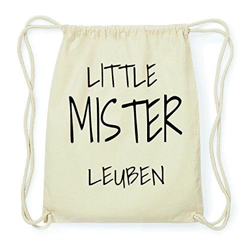 JOllify LEUBEN Hipster Turnbeutel Tasche Rucksack aus Baumwolle - Farbe: natur Design: Little Mister B4z47P