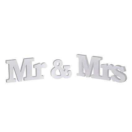 NUOBESTY Sr. y Sra. Cartas Cartas de boda Letras de pie ...