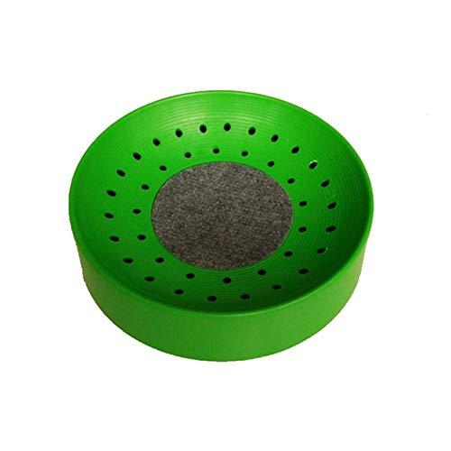(Moonnight Store Plastic Dehumidification Breeding Bird Egg Basin Nest Bowl Mat Pet Toys Bird Parrot Pigeon Supplies Wholesale noDC22 (Green))