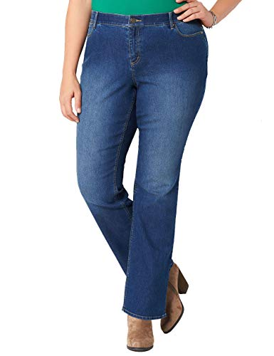 Chicwe Women's Plus Size Stretch Curvy-Fit Jeans - Modern Series Denim Pants Indigo 18