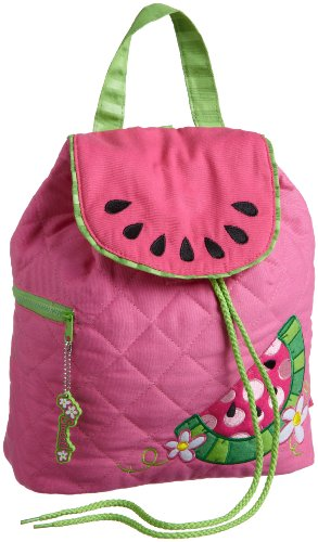 Stephen Joseph Little Girls'  Little Girls'  Quilted Backpack, Watermelon, One Size