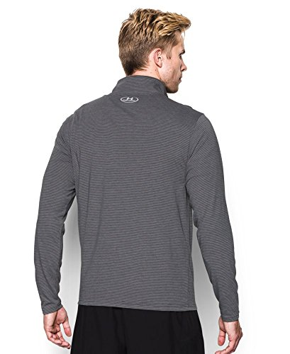 Under Armour Men's Streaker Run 1/4 Zip , Carbon Heather (090)/Reflective, Small by Under Armour (Image #1)