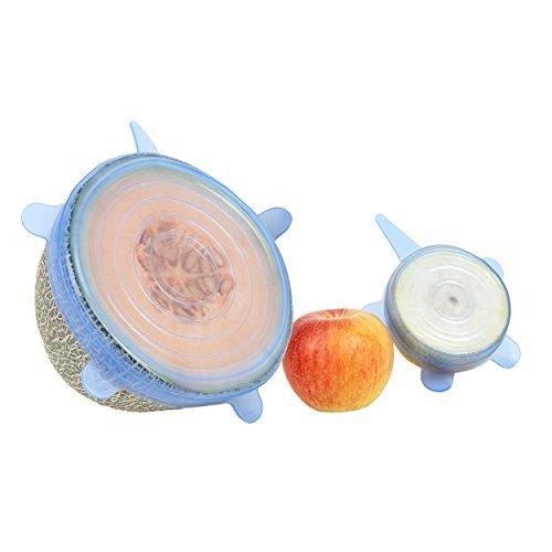 ISIYINER Coperchio in Silicone Universal Silicone Ciotola Coperchio Riutilizzabile Perfetti per Alimenti 7 Pezzi