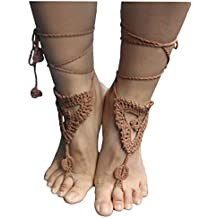 AlexStudio Ornate Wedding Bridal Knit Foot Barefoot Sandals Beach Shoes Foot Jewelry Yoga Chain Anklet
