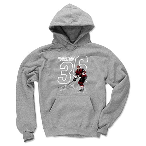 - 500 LEVEL Christian Fischer Arizona Coyotes Hoodie Sweatshirt (Small, Gray) - Christian Fischer Offset W WHT