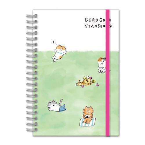 Mind Wave Linda libretita con Graciosos Gatos en la Hierba, con Tapa Dura y Banda elástica: Amazon.es: Hogar