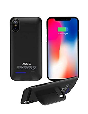 Amazon.com: aose batería funda iPhone X [Auriculares de ...