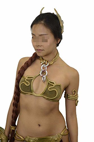 Slave Leia Costume Set Bikini Princess Star Wars Complete Boots Wig (US 9) (Star Wars Slave Leia Costume)