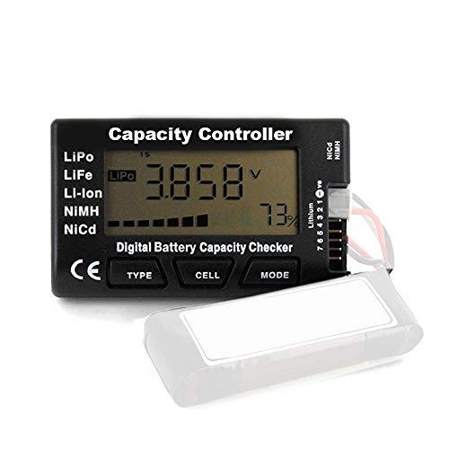 HTRC Battery Meter 5-in-1 Digital Capacity Checker Battery Balancer Intelligent Cell Meter for LiPo / LiFePO4 / Li-ion/NiCd/NiMH Batteries Packs