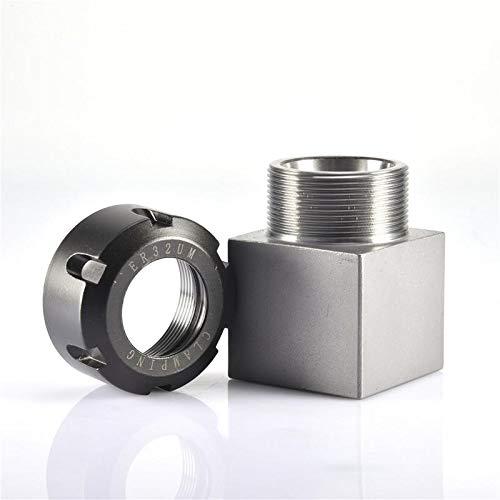 1PCS ER40 ER32 ER25 Square Collet Chuck Holder Mayitr Block For Lathe Engraving Machine Cross Hole Drilling