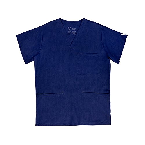 VESTEX® Signature Stretch Unisex V-Neck 3 Pocket Solid Scrub Top XX-Large - Nv Fashion Center