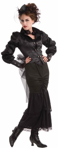 Steampunk Fancy Dress Costumes (Woman's Steampunk Victorian Lady Costume, Black, One Size)