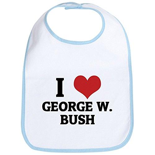 CafePress - I Love George W. Bush Bib - Cute Cloth Baby Bib, Toddler (Bush Bib)